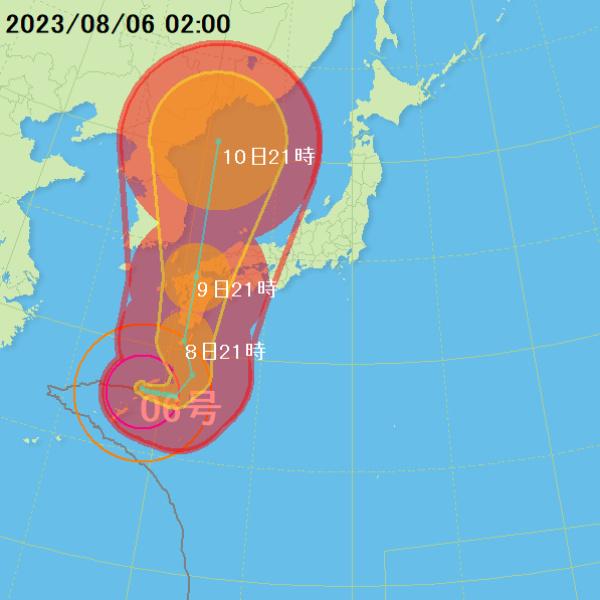 台風位置情報